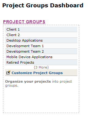 Project Groups Dashboard