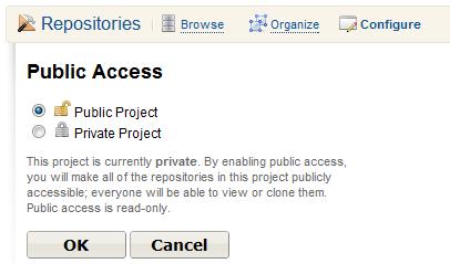 Public Access page